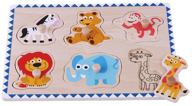 Drewniane puzzle dzikie zwierzęta