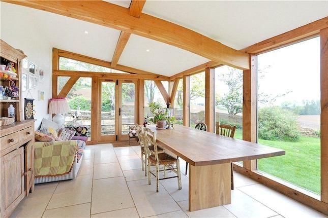 Oak framed extension - interior