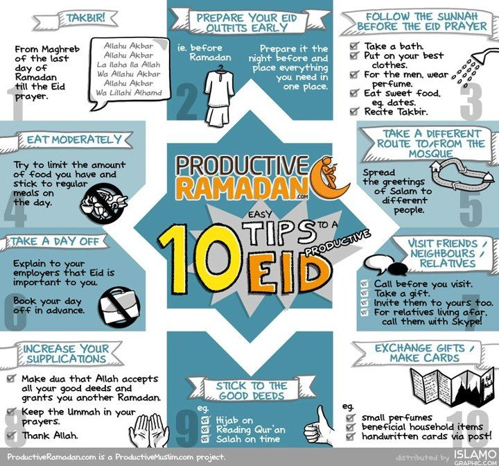 10 Tips to a Productive Eid