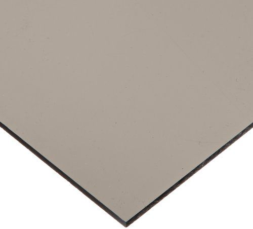 """Cast Acrylic Sheet, Transparent Gray, 12"""" X 12"""" X 0.118"""" Size, 2015 Amazon Top Rated Plastic Sheets #BISS"""