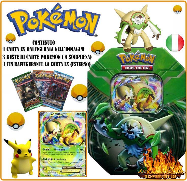 POKEMON TIN CHESNAUGHT EX , PROMO ITALIANO NUOVO PREZZO SPECIALE  POCHI PEZZI !