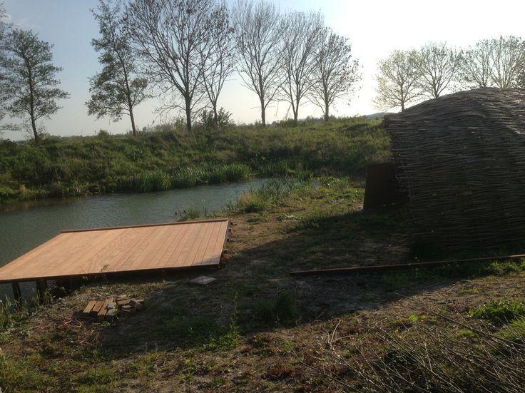 willow shelter + bankirai hard wood platform