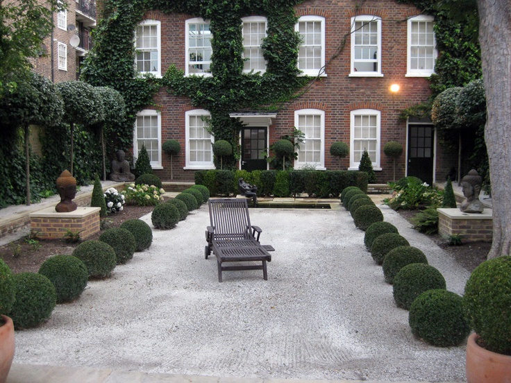 649b078bbfeb6872bfedc53d39d3a3c9--front-yard-ideas-patio-ideas South West Brick Pea Gravel Garden Design on