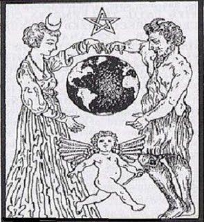 """A Queen of Heaven aka Ashtorethet, Baal, és fiuk.  Druida papnők szült egy kék félhold a homlokukra és elsősorban imádták az """"Anya-istennő"""" és a hold, míg a druida papok elsősorban imádták a napot, és a """"nagy szarvas Egy.""""  Semmi új a nap alatt."""