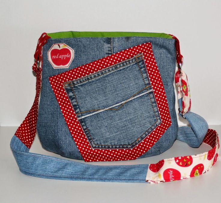 jeanstasche selber n hen taschen pinterest jeanstasche selber n hen jeanstasche und. Black Bedroom Furniture Sets. Home Design Ideas