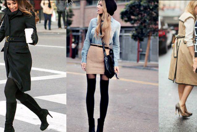 denim blue light skirt beige knitwear black socks long hoodie