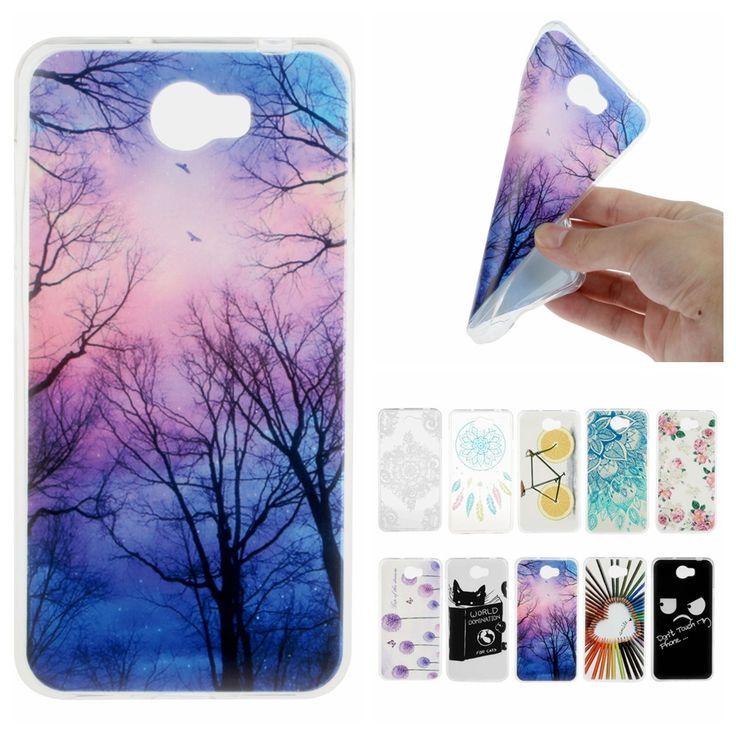 Pour Coque Huawei Y5 II Cas Silicone de Dessin Animé Mignon Couvercle Transparent pour Huawei Y5II Y 5 II 2 Slim Tpu Retour Cas de Téléphone(China (Mainland))