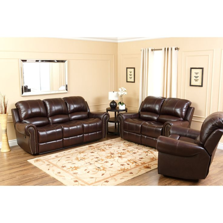Sofa Mart Abbyson Lexington Dark Burgundy Italian Leather Reclining Chair and Sofa Set For a few moments you ull forget where you are your feet up body relaxed