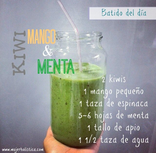 Día 2 del reto de batidos: Batido Kiwi- Mango- Menta!  Para la foto de hoy escogimos una de las fotos que nos enviaron en Instagram, a través del #retobatidos, la foto pertenece a la bloggera Issa Quisqueya (@issa_quisqueya), gracias!!  La receta de hoy y todos los beneficios lo pueden encontrar en esta página:  http://retobatidos.com/batido-kiwi-mango-menta/ #retobatidos #batidos #salud #dieta