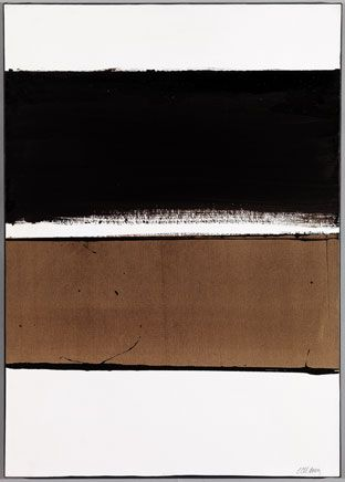 B-Walnut Stain Artist: Pierre Soulages Completion Date: 1998 Style: Minimalism Genre: abstract Technique: acrylic, charcoal Material: canvas