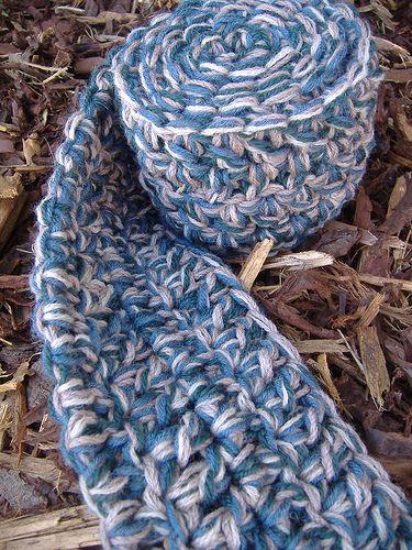 Quick Chunky Crochet Scarf