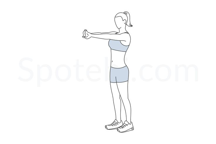 The upper back stretch is a great exercise for improving the posture, easing stiffness and removing tension. If you spend a lot of hours sitting in front of a computer, it's important to add a couple of back stretches to your daily routine. This way you can help ease back pain and prevent injuries. http://www.spotebi.com/exercise-guide/upper-back-stretch/