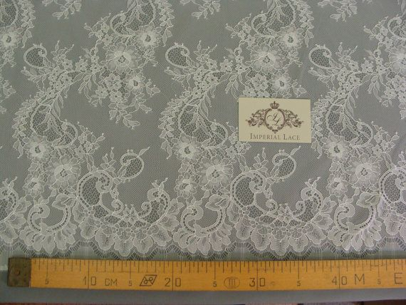 Ivory lace fabric by the yard French Lace Embroidered lace