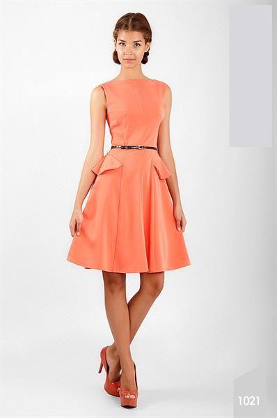 Купить платье персикового цвета