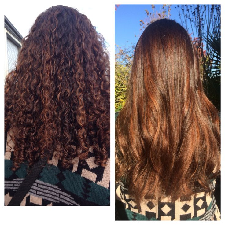 My balayage highlights straight vs curly hair. Looks amazing both ways!