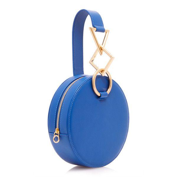 Azar Clutch Bag | Moda Operandi ($570) ❤ liked on Polyvore featuring bags, handbags, clutches, blue clutches, geometric handbag, blue purse, circle handbags and blue handbags