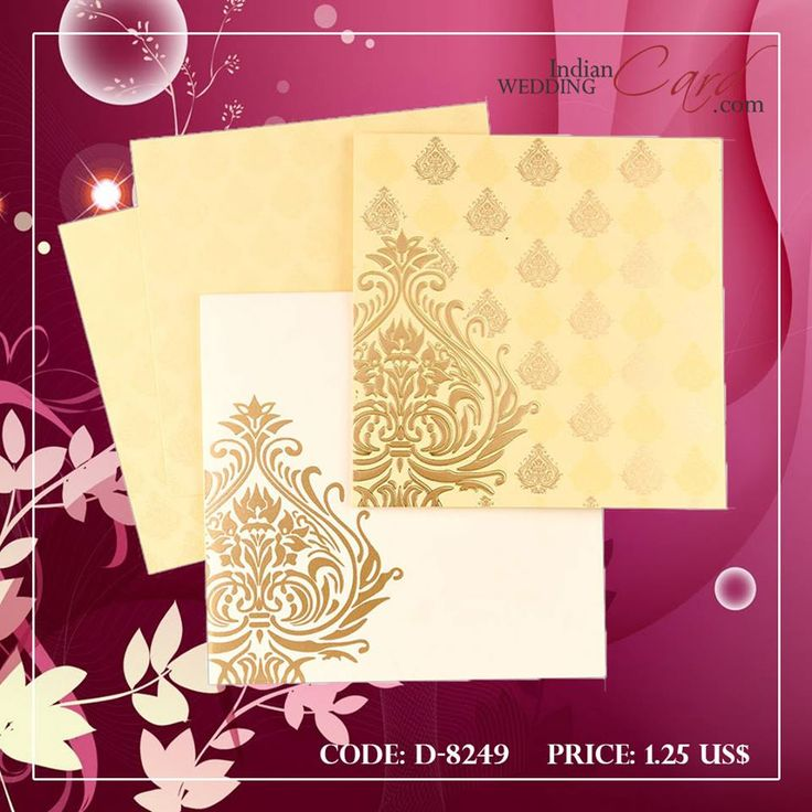 D 8249 Simple yellow with gold Damask wedding