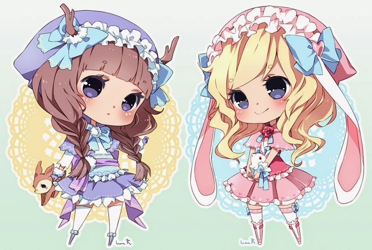 okie, so here are two chibi twins, and they are super ...