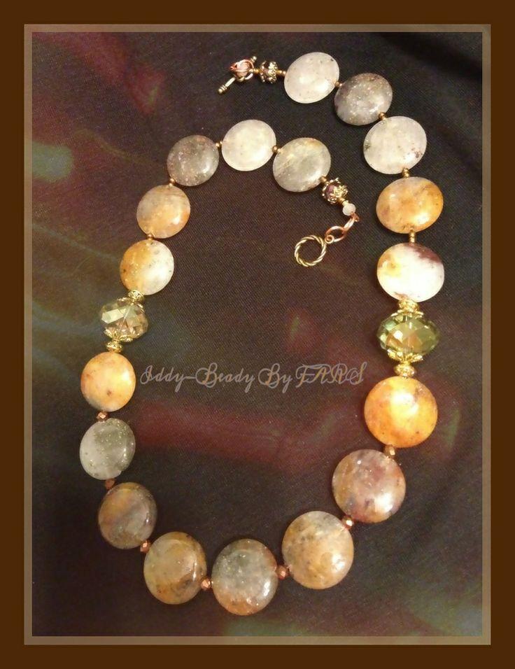 Hues of #Autumn, #quartz disc beads