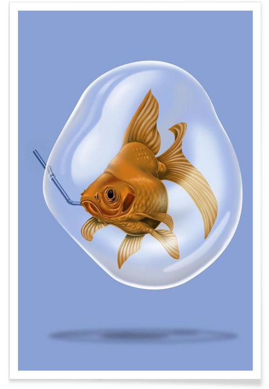 A breath of fresh air (colored) - Rob Snow | Creative - Premium Poster art | decor | wall art | inspiration | animal | home decor | ideas | gift