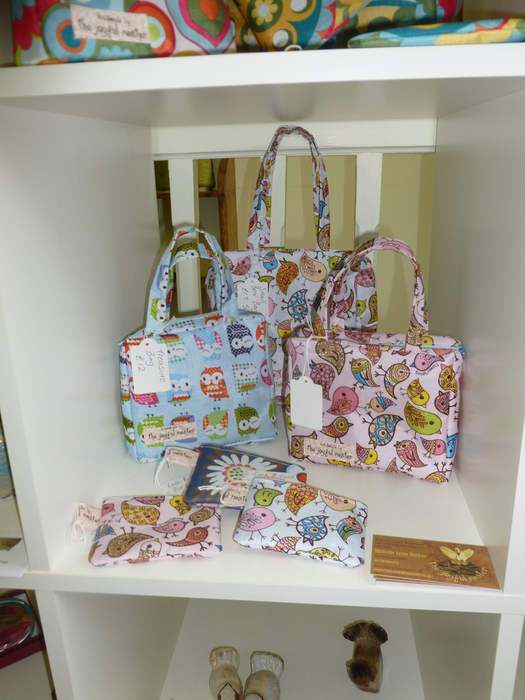 My bags and purses on sale in my home town  Glossop at Smithy Studios. Please visit my page to see more.