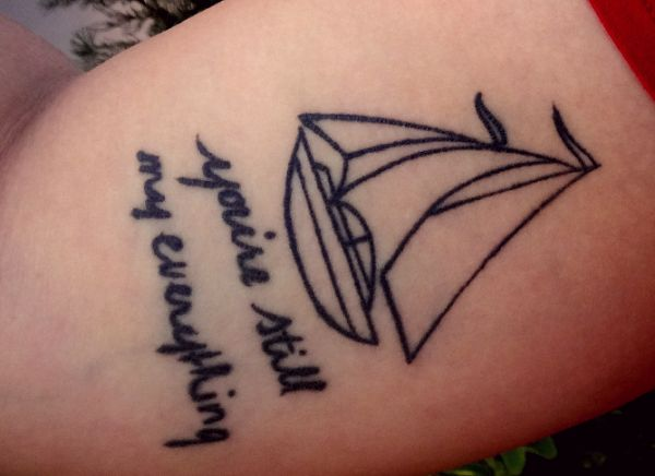Simple Sailboat Tattoo | Tattoos | Pinterest