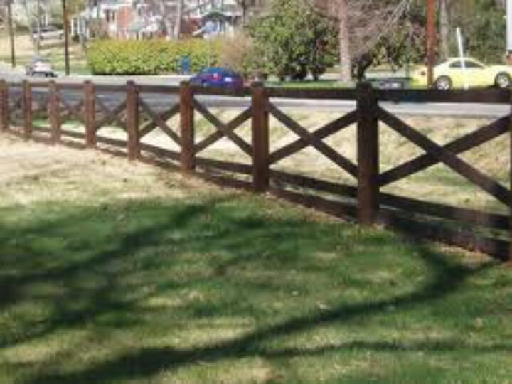 Stained Crossbuck Fence For Porch Railing Outdoor