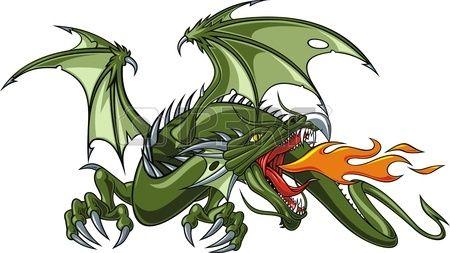 mooie chinese draak op een witte achtergrond Stockfoto