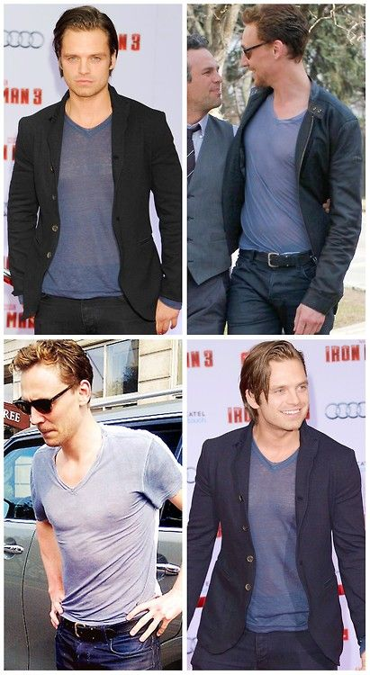 Tom & Sebastian in 'The Half Transparent Shirts of Death ' << repinning for this comment!! They know it's power!!!