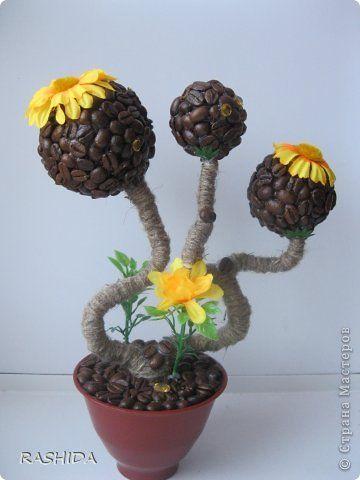 Handmade-kursy ,wzory ,tutoriale: Ozdoby z kawy i nasion