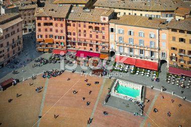 #PiazzadelCampo #Siena #RoyaltyFree #StockPhoto #iStockphoto #aerialview #Italy #Italia