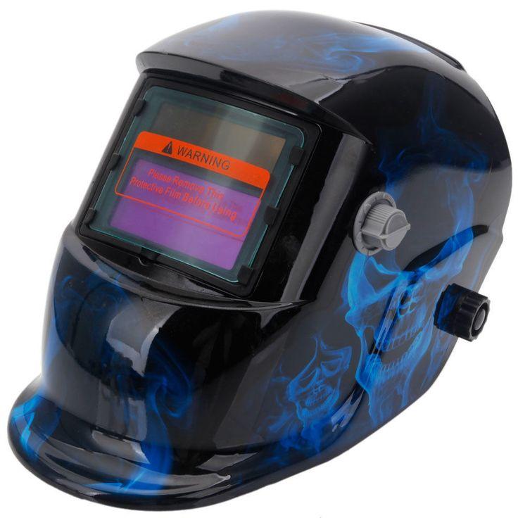 Solar Powered Auto Darkening Welding Helmet & Black