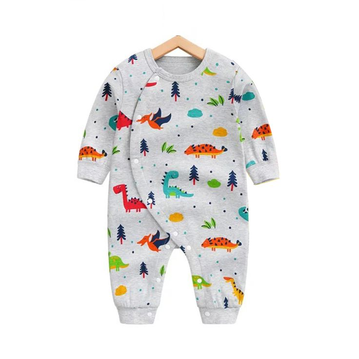 Victory! Check out my new Allover Adorable Dinosaur Pattern Long Sleeve Snap-up Jumpsuit in Grey for Baby and Newborn, snagged at a crazy discounted price with the PatPat app.