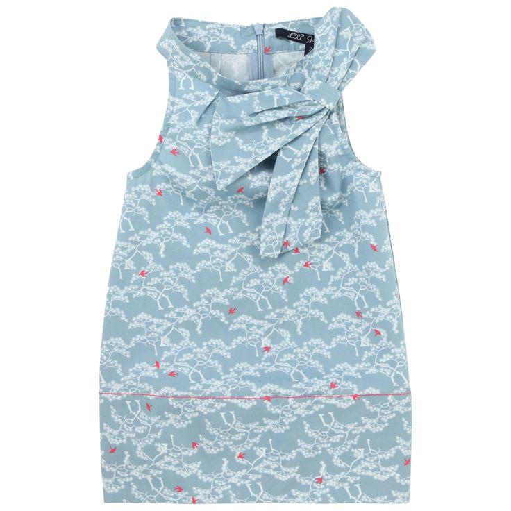 Lili Gaufrette   Nueva colección Primavera Verano 2014   New collection SS'14   Vestido Niña Color Azul