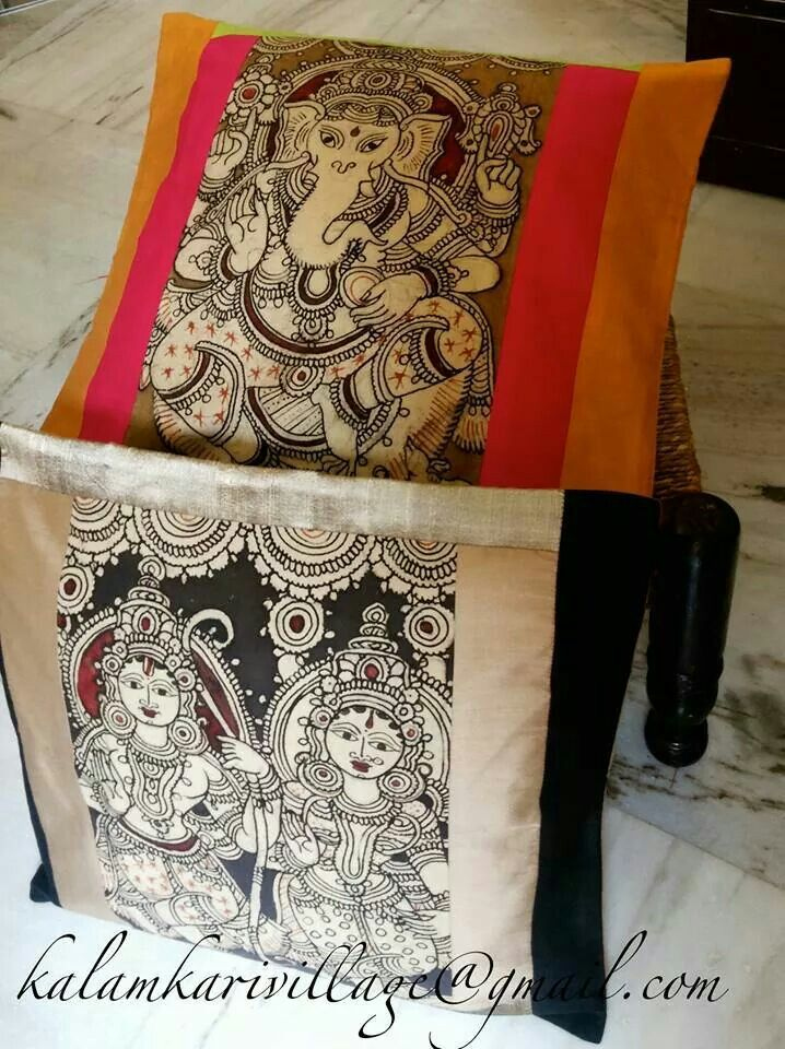 Heart these detailed kalamkari deities