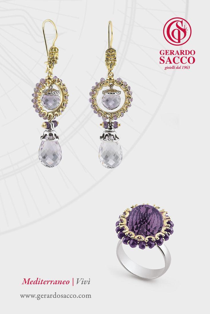 Romantica e sognatrice?  Investi i sensi e regalati le trasparenze di un magico mediterraneo #Vivì #Mediterraneo #JewelryCollection