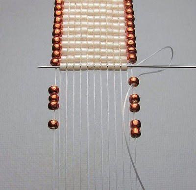 Méthode de tissage pour faire un bracelet ou un colier