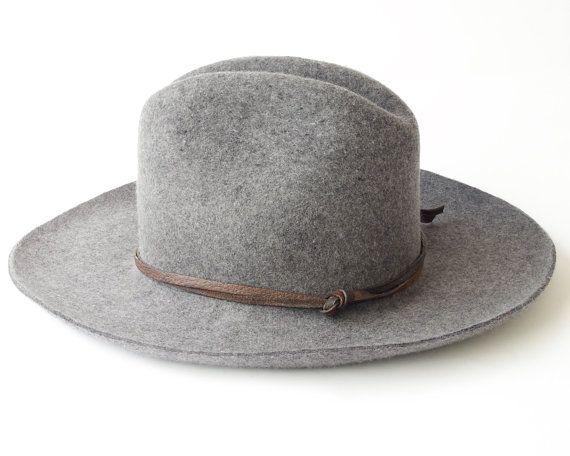 Cowboy Hat Wool Felt Hat Men's Hat Women's Hat by KatarinaHats