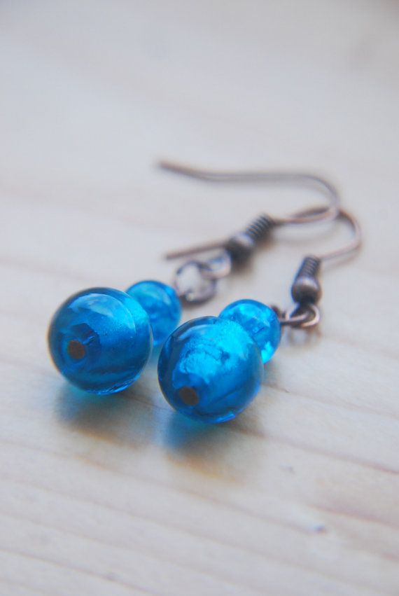 Hey, I found this really awesome Etsy listing at https://www.etsy.com/listing/193920780/teal-green-earrings-aqua-earrings-copper