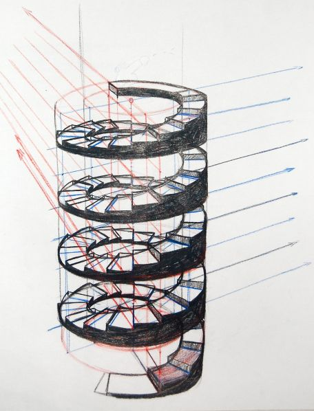 Best Spiral Staircases Staircase Art Staircase Drawing 400 x 300