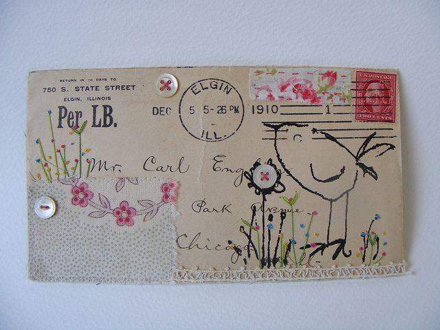 envelope collage by hens teeth, via Flickr