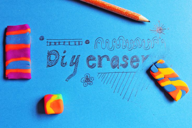 how to make erasers out of clay