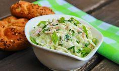 Kedlubnový salát se šunkou a cottage