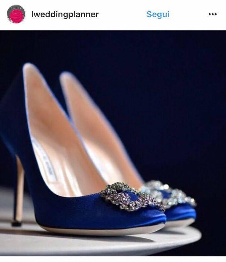 scarpe sposa 2018 colorate blu
