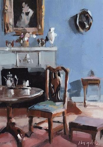 """Blue Room - Quick Study"" - Original Fine Art for Sale - © David Lloyd"