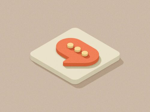 3D Flat Design: Squares Isometric.