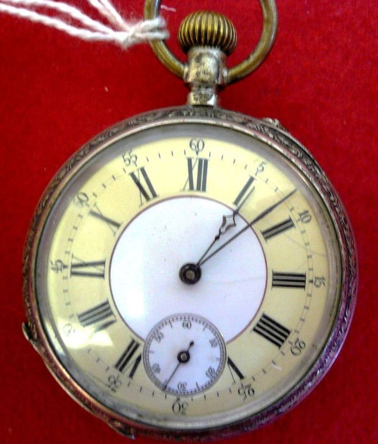 Antico OROLOGIO da TASCA d epoca cipolla REMONTOIR 4 RUBIS ARGENTO pocket watch