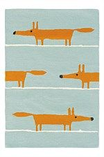 Scion Rug Mr Fox Aqua