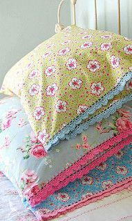 new pillowcases for the summer...   by rose hip...