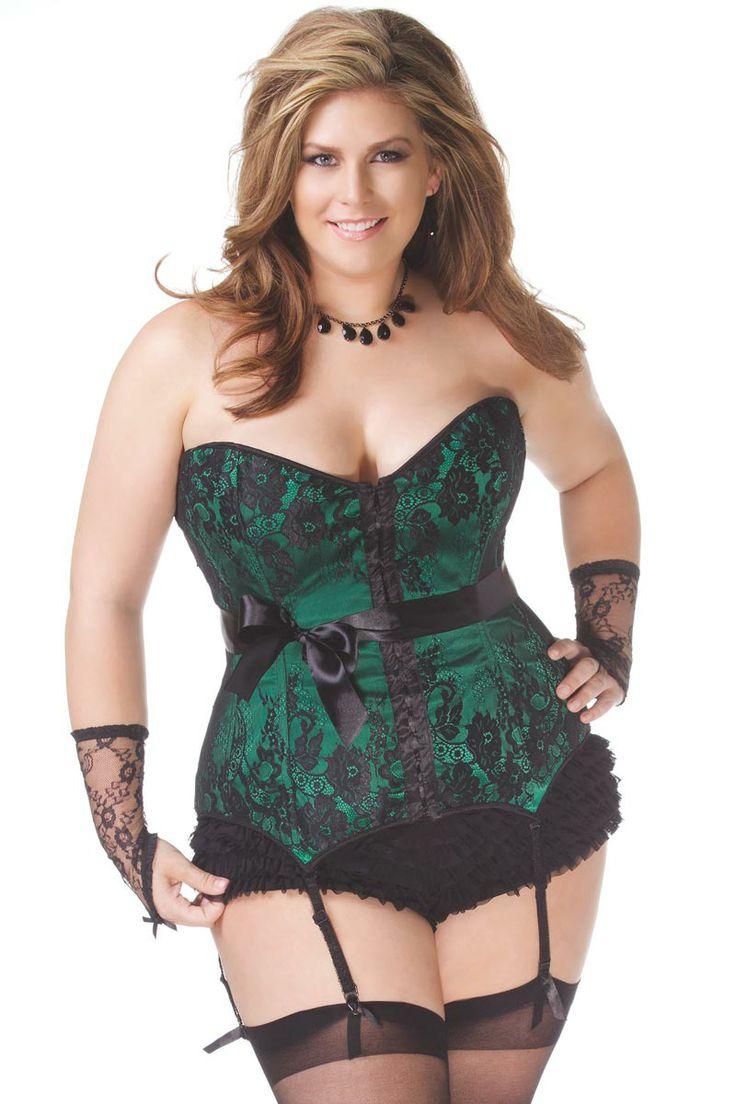 green plus size lingerie
